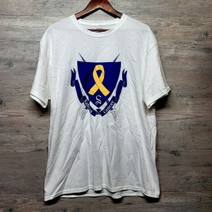 Sabres Vs. Cancer Graphic T Shirt. Perfect! Soft!